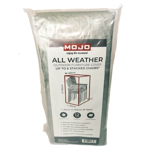 Mojo All Weather Outdoor 6 Stack Chair Furniture Cover