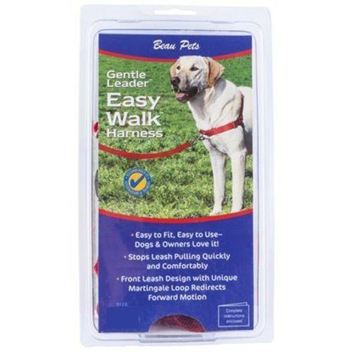 Gentle Leader Medium/Large Red Easy Walk Dog Harness (Beau Pets)