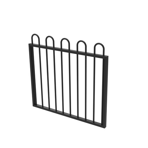 Protector Aluminium 975 x 900mm Loop Top Garden Gate - To Suit Self Closing Hinges - Satin Black