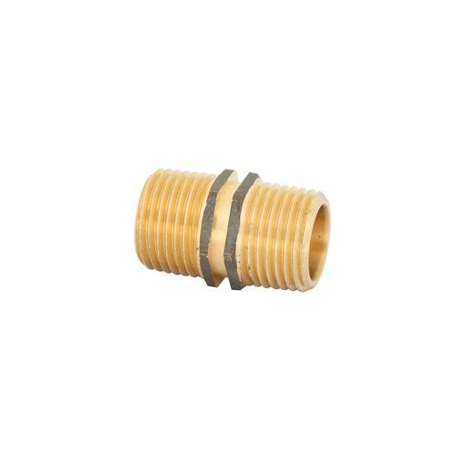 Kinetic 15mm Brass Threaded Hexagon Nipple