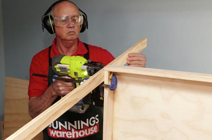 DIY Step Image - D.I.Y. wooden storage rack . Blob storage upload.