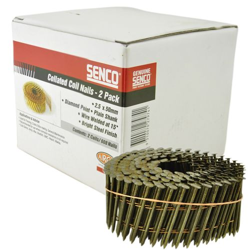 Senco Coil Nails 50 x 2.5mm - Small Trade Pack 680