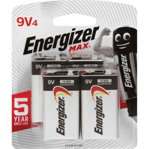 Energizer Max 9V Battery - 4 Pack
