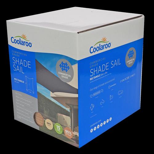 Coolaroo 5 x 3m Beech Rectangle Commercial Shade Sail