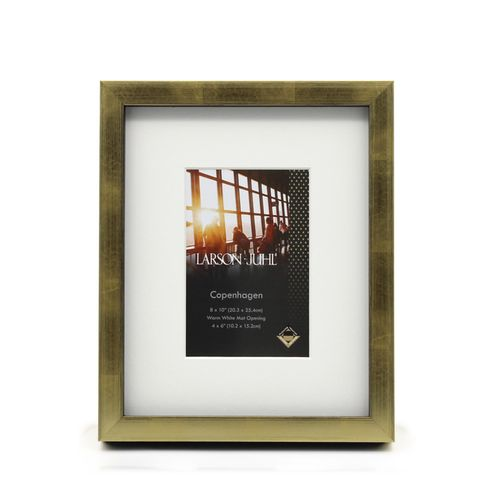 Copenhagen 8 x 10inch/4 x 6inch Opening Gold Photo Frame