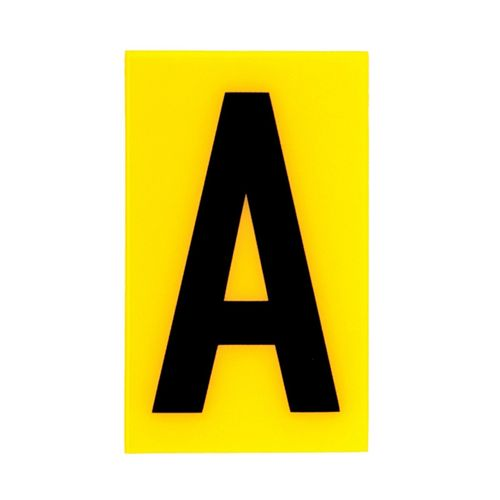 Sandleford 60 x 35mm A Yellow Self Adhesive Letter
