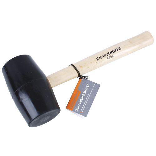 Craftright 24oz Rubber Mallet
