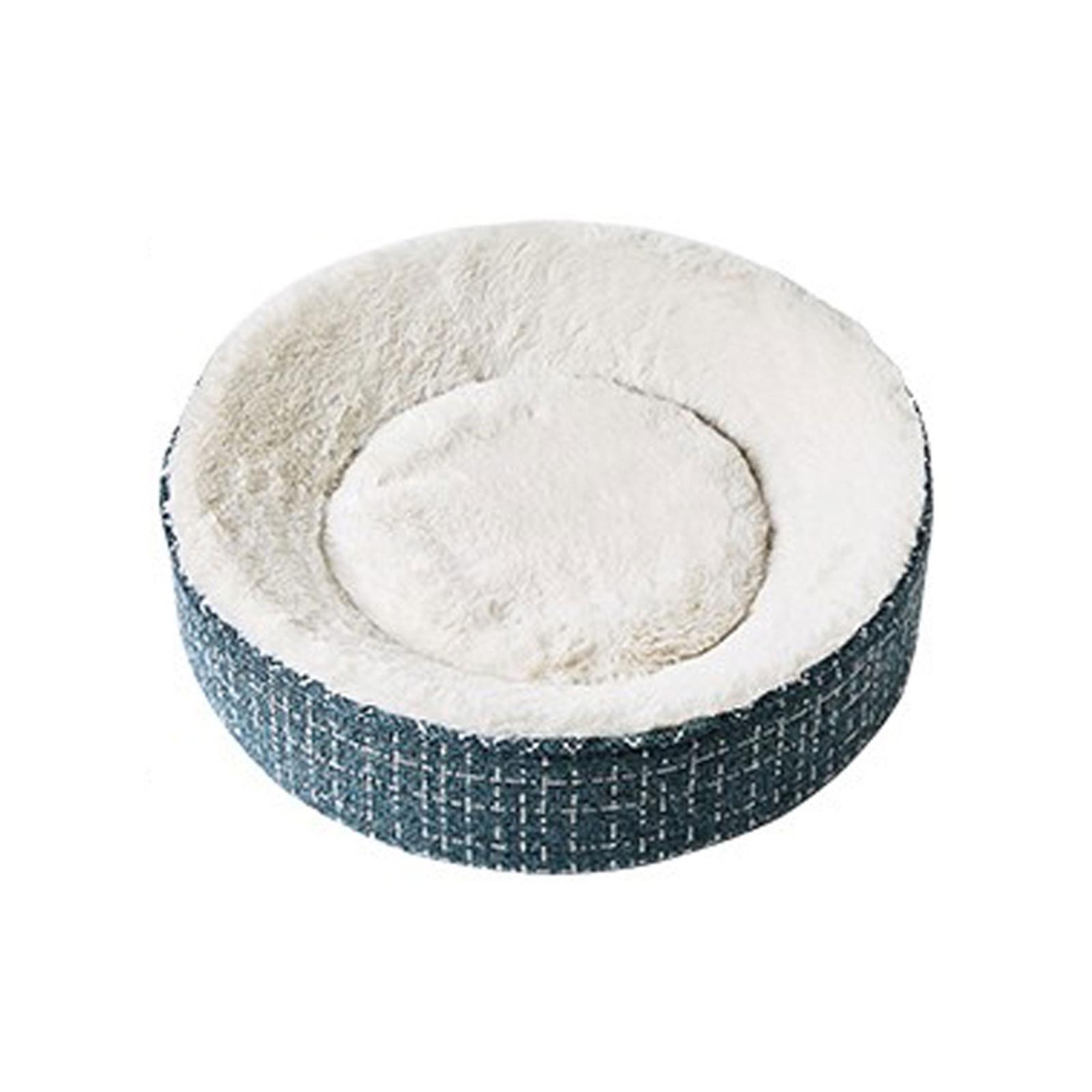 Petkit Deep Sleep 41cm Cat/Kitten/Pet Memory Foam Curved/Round Bed Warm/Cozy BLU