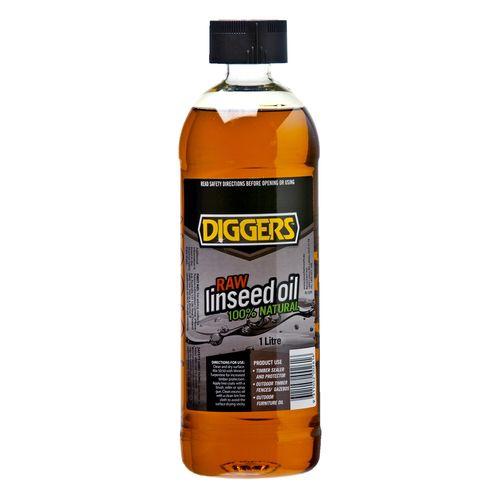 Diggers 1L Raw Linseed Oil