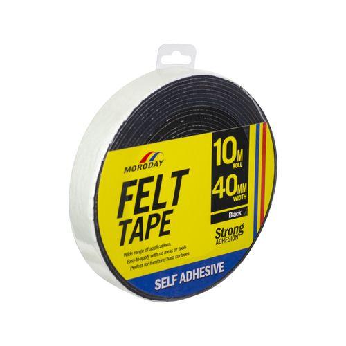 Moroday 40mm x 10m Felt Scratch Saver Self Adhesive Tape