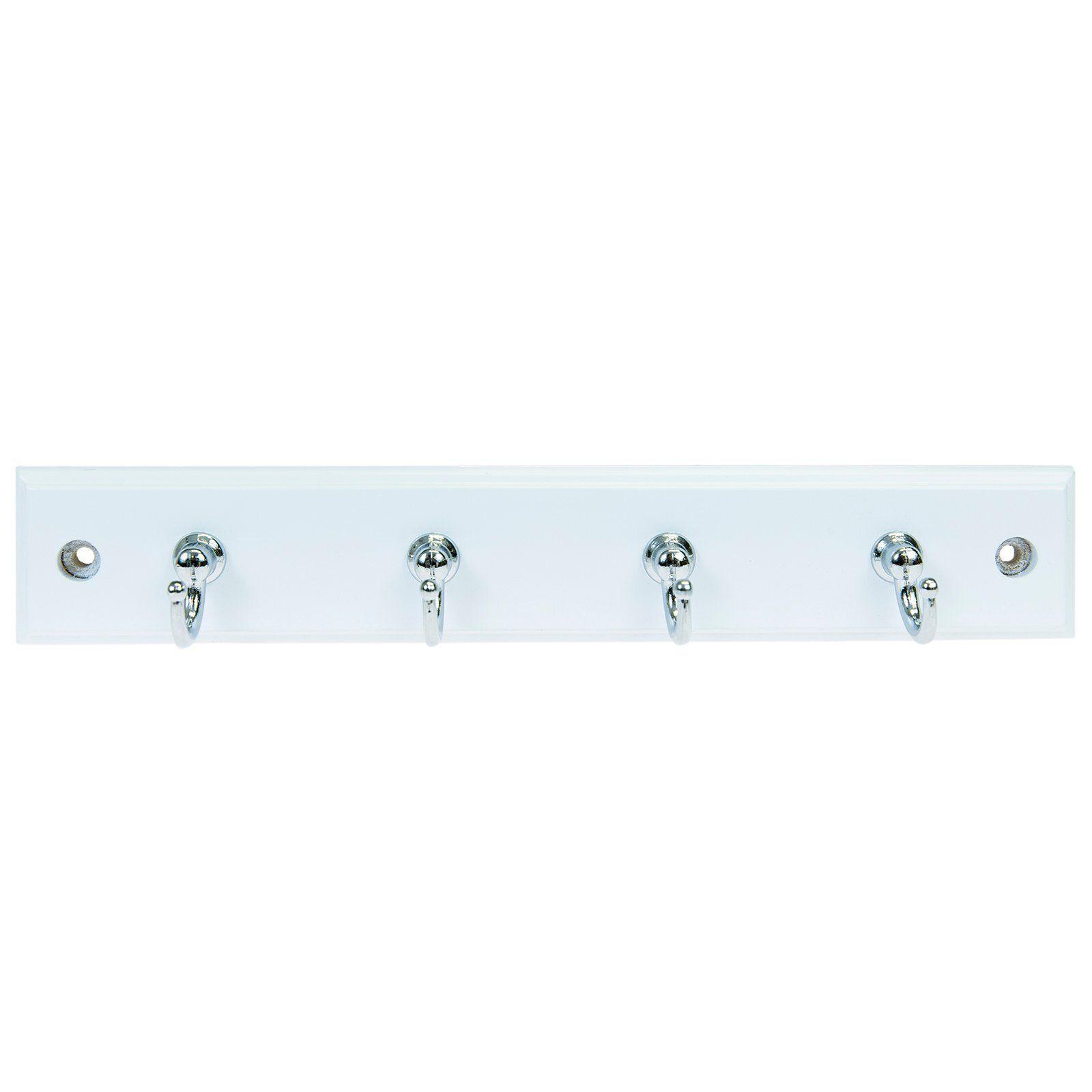 MODE 4 Chrome Hooks On White Board Key Rack