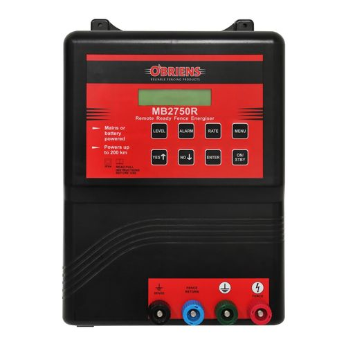 O'Briens 200km Mains/Battery Electric Fencing Energizer