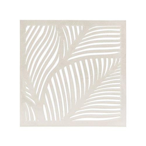 Matrix 570 x 570mm Off White Fronds Wall Art