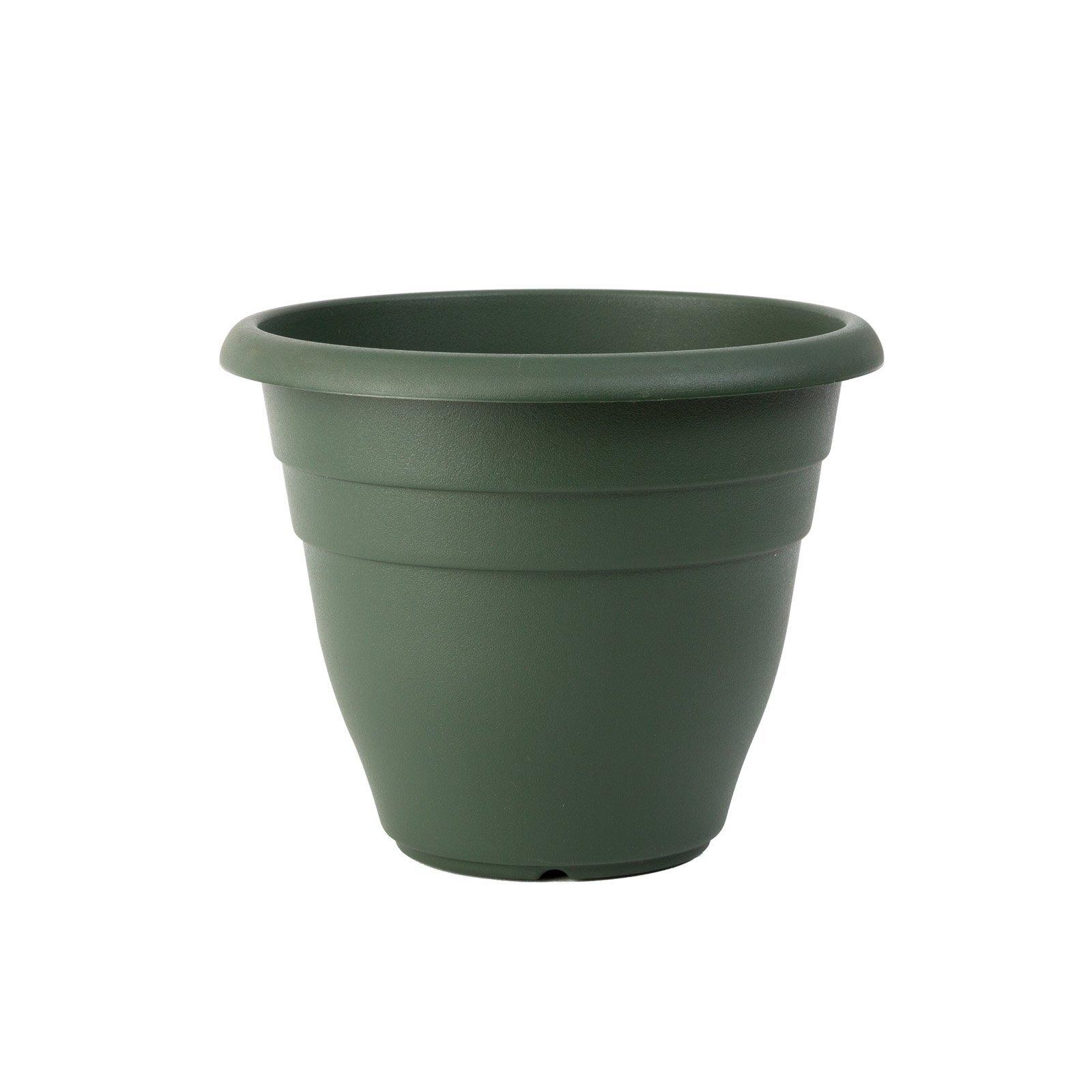 Northcote Pottery 200mm Green Villa Round Plastic Pot