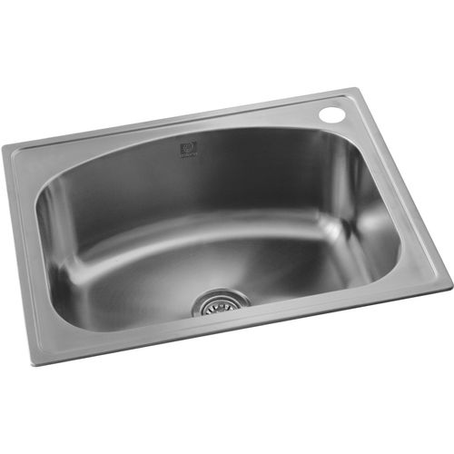 Milena 35L Stainless Steel Euro Inset Laundry Trough With Right Tap Hole