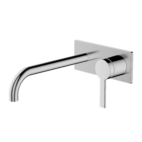 Greens Chrome Penny Wall Basin Mixer With Faceplate