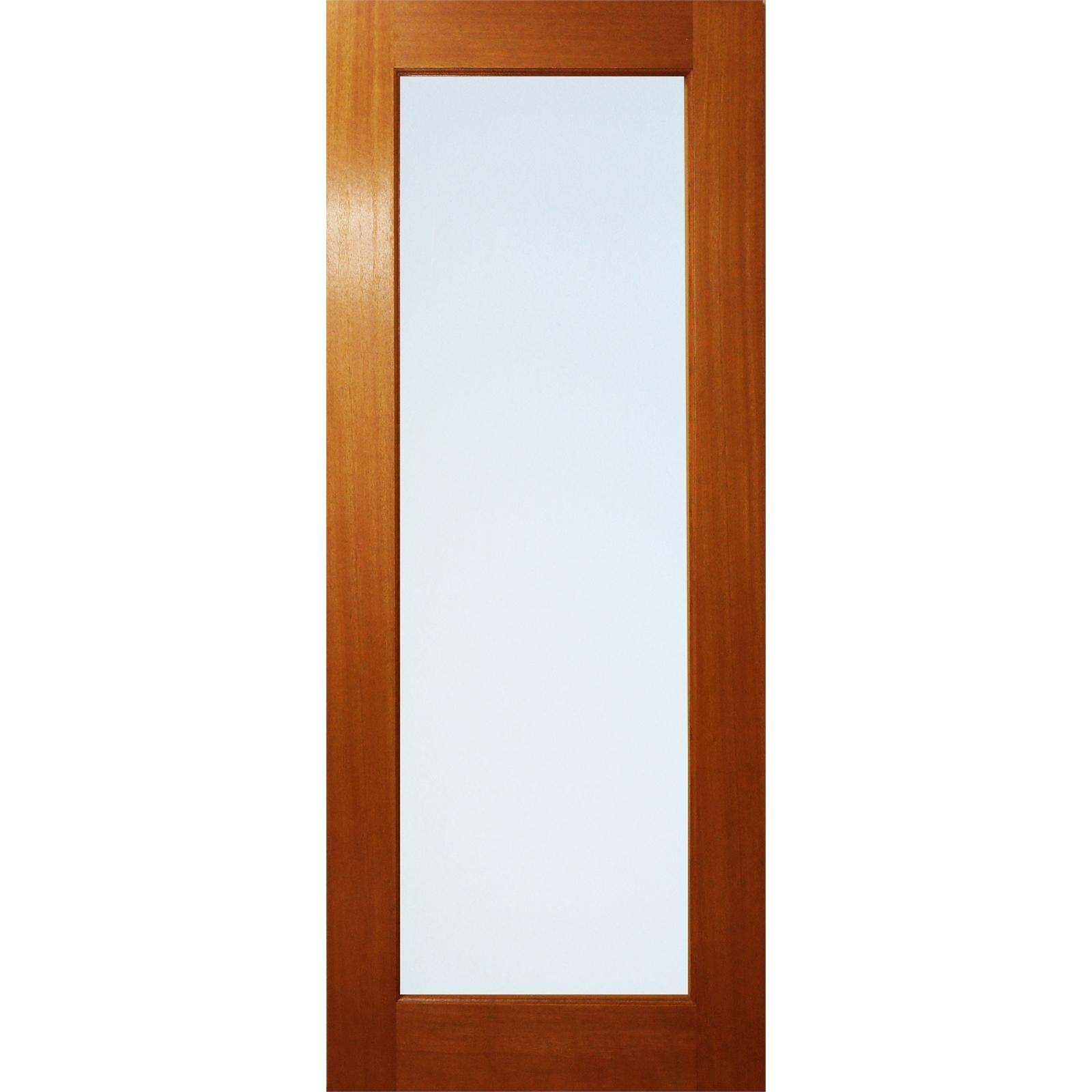 Woodcraft Doors 2040 x 820 x 35mm One Lite Frosted Laminated Glass Internal Door