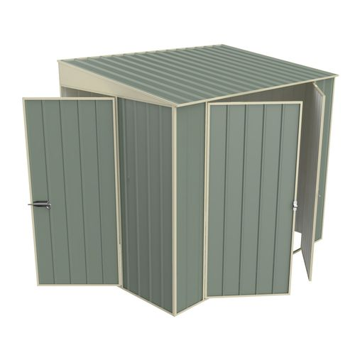Build-a-Shed 1.5 x 2.3 x 2.0m Skillion Double Hinged Side Door Shed - Green