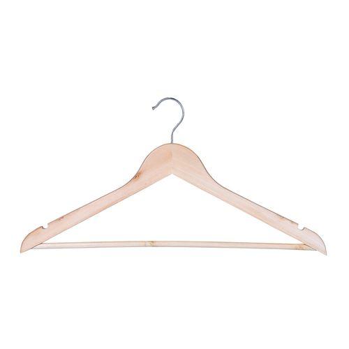 Sunfresh 4PK Wooden Clothes Hanger with Bar