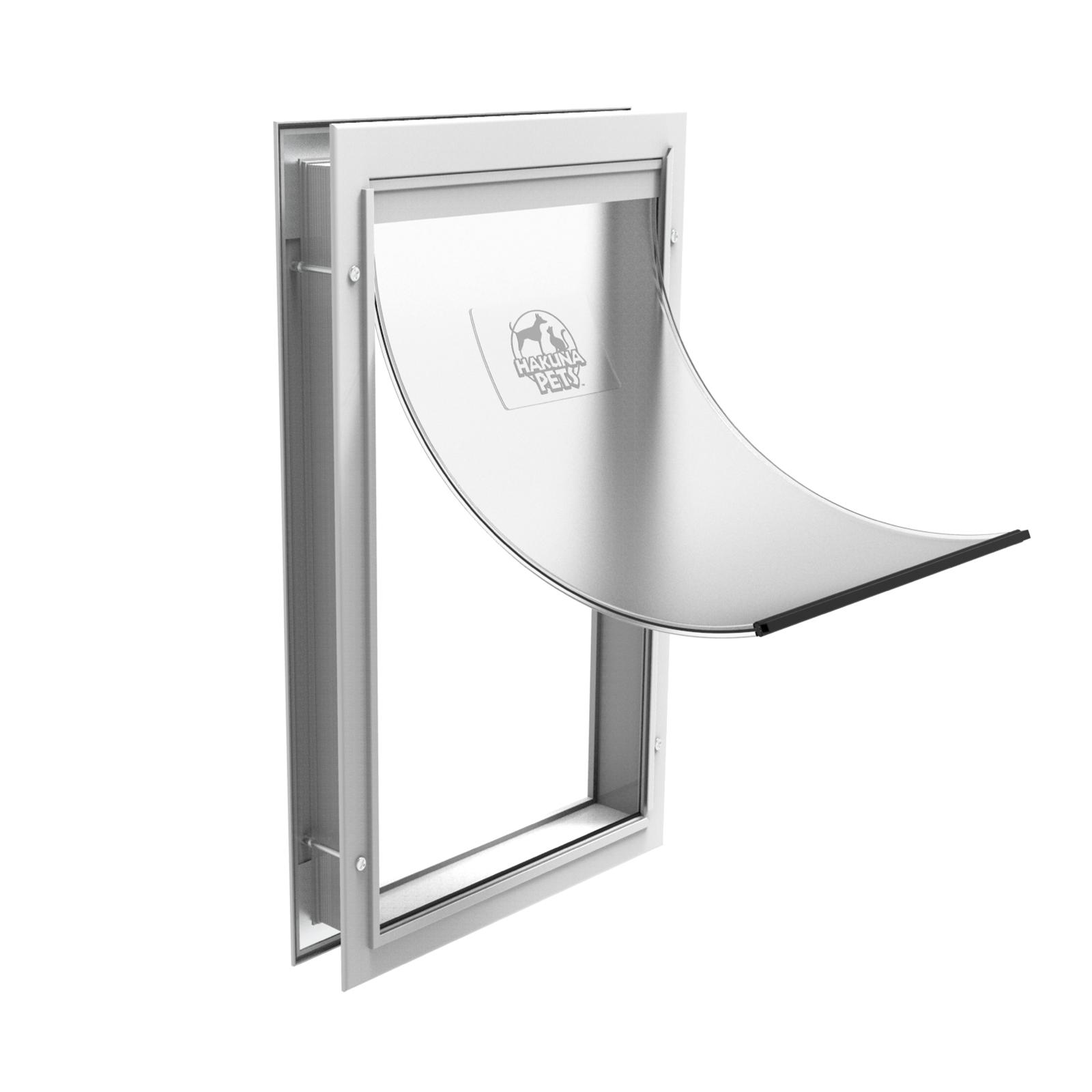 Hakuna Pets Extra Large White Deluxe Aluminium Pet Door