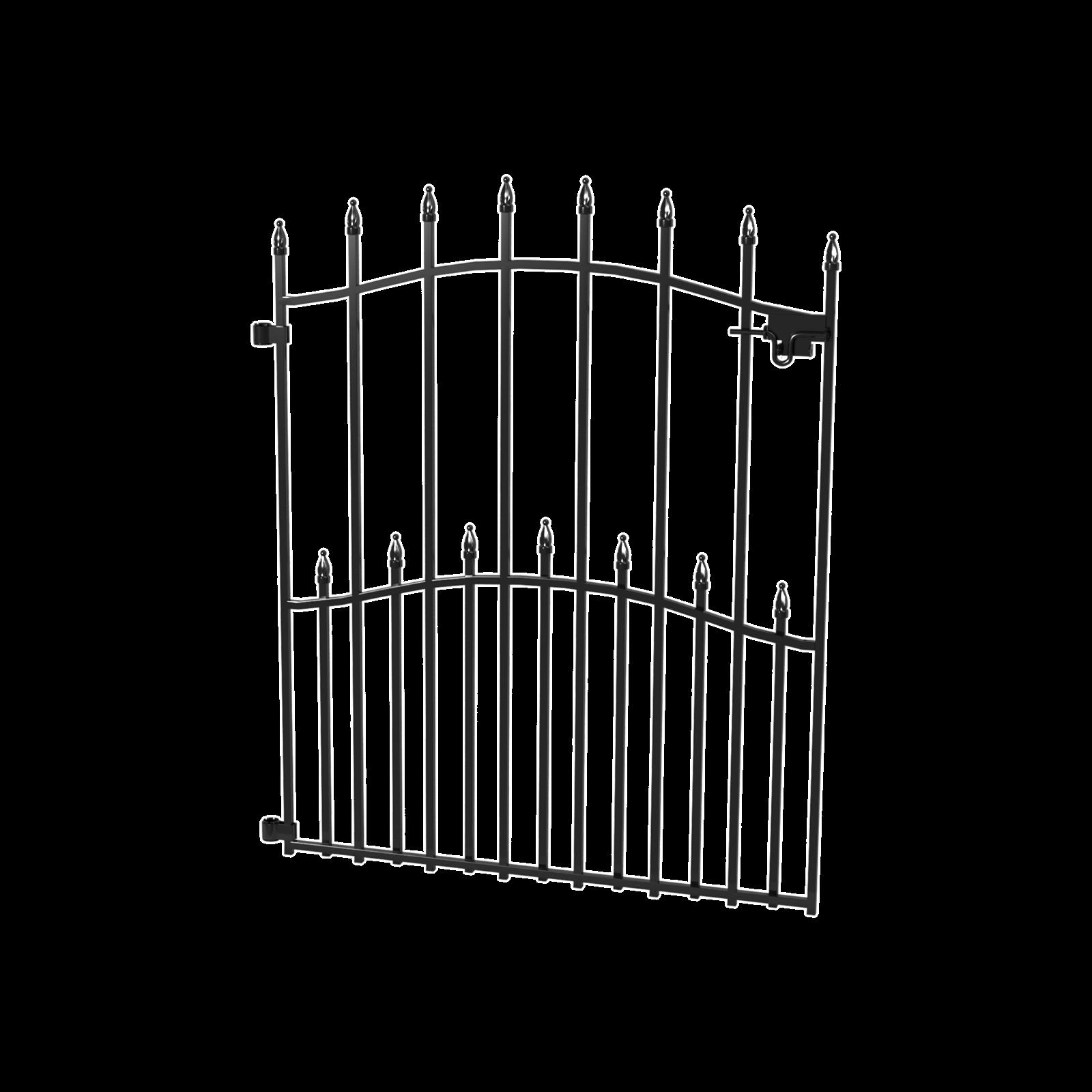 Peak Products 840mm Black No-Dig Fencing Sheffield Gate