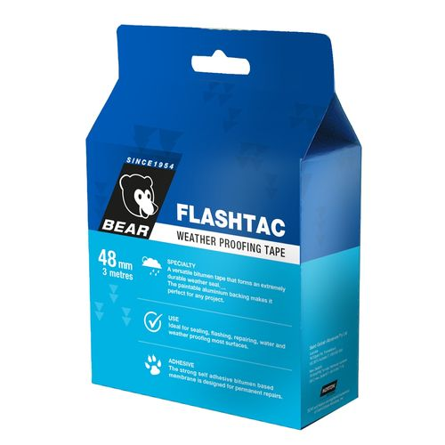 Bear 48mm x 3m Flashtac Weather Proofing Tape