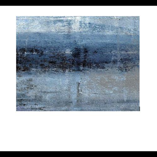 Bellessi 730 x 895 x 5mm Glass Textured Splashback - Blue Storm