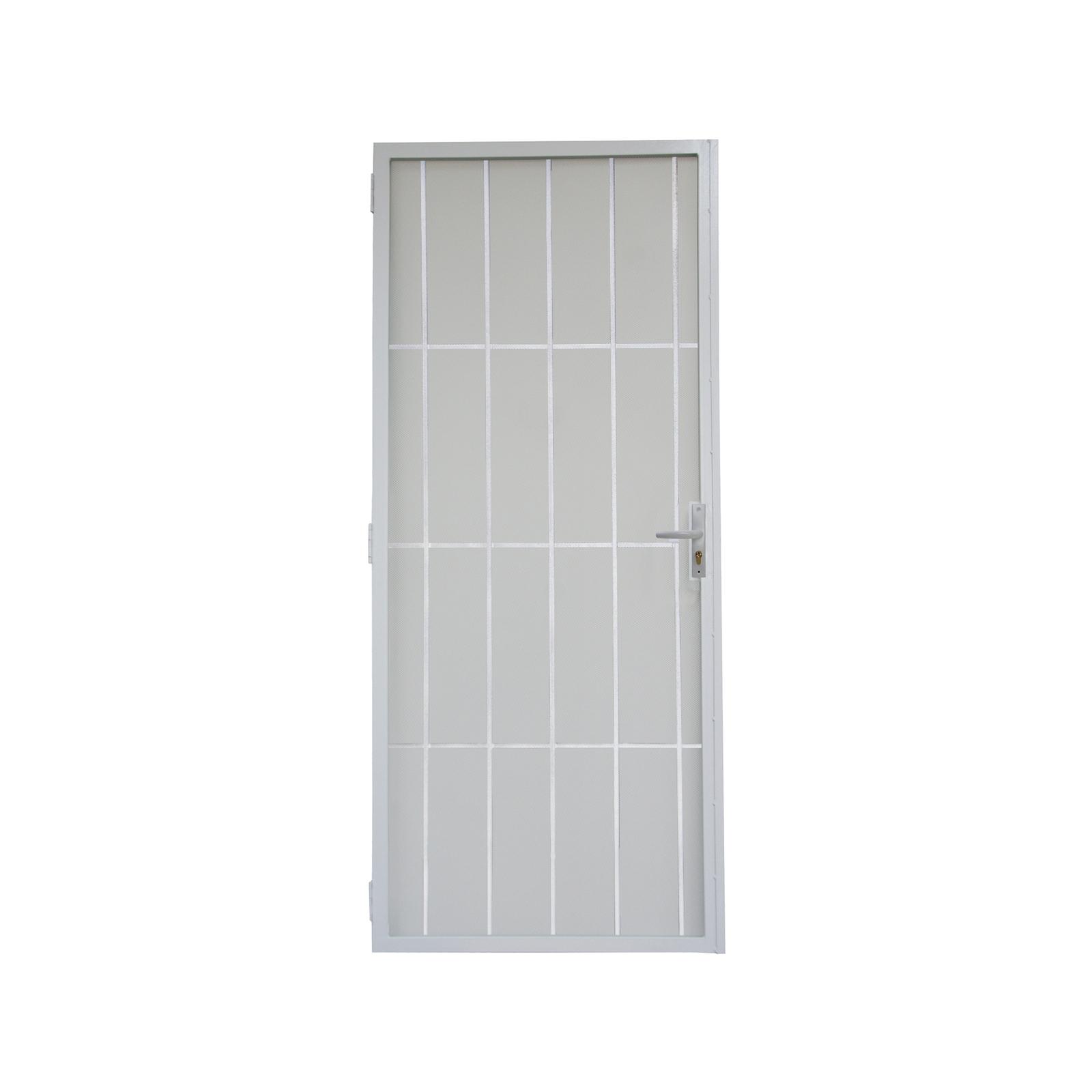 Pillar 2032 x 813mm White Classic Steel Frame Metric Screen Door