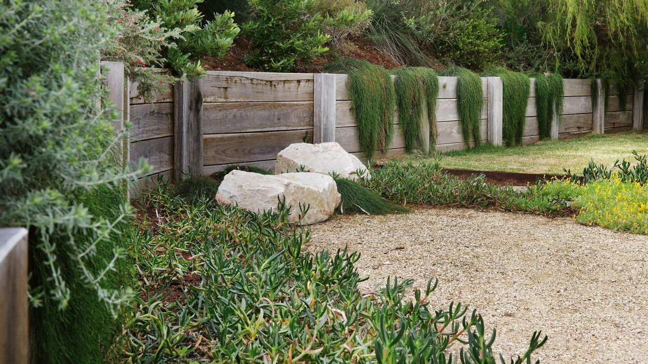 paving with two rocks for display