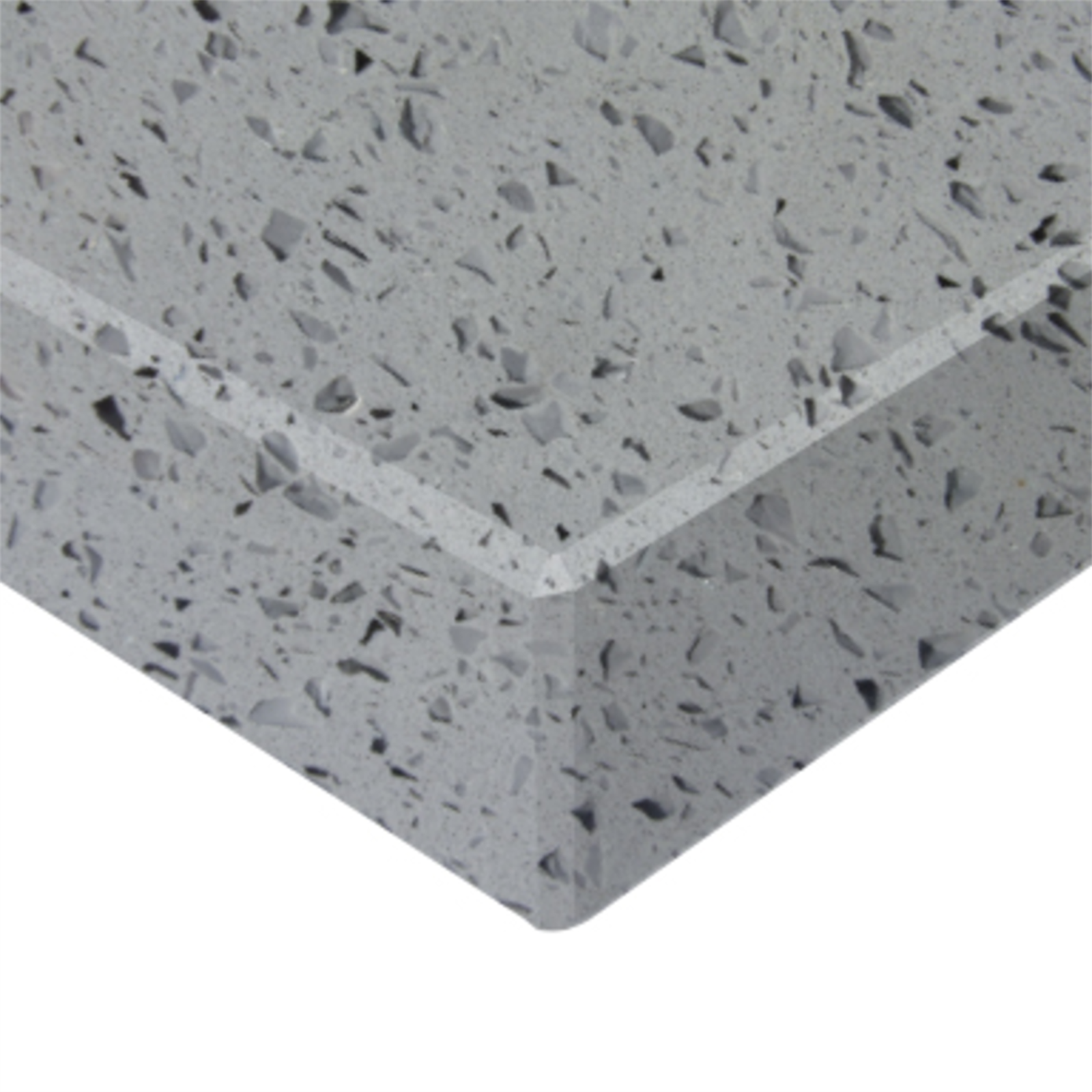 Essential Stone 40mm Square Savvy Stone Benchtop - Crystal Grey
