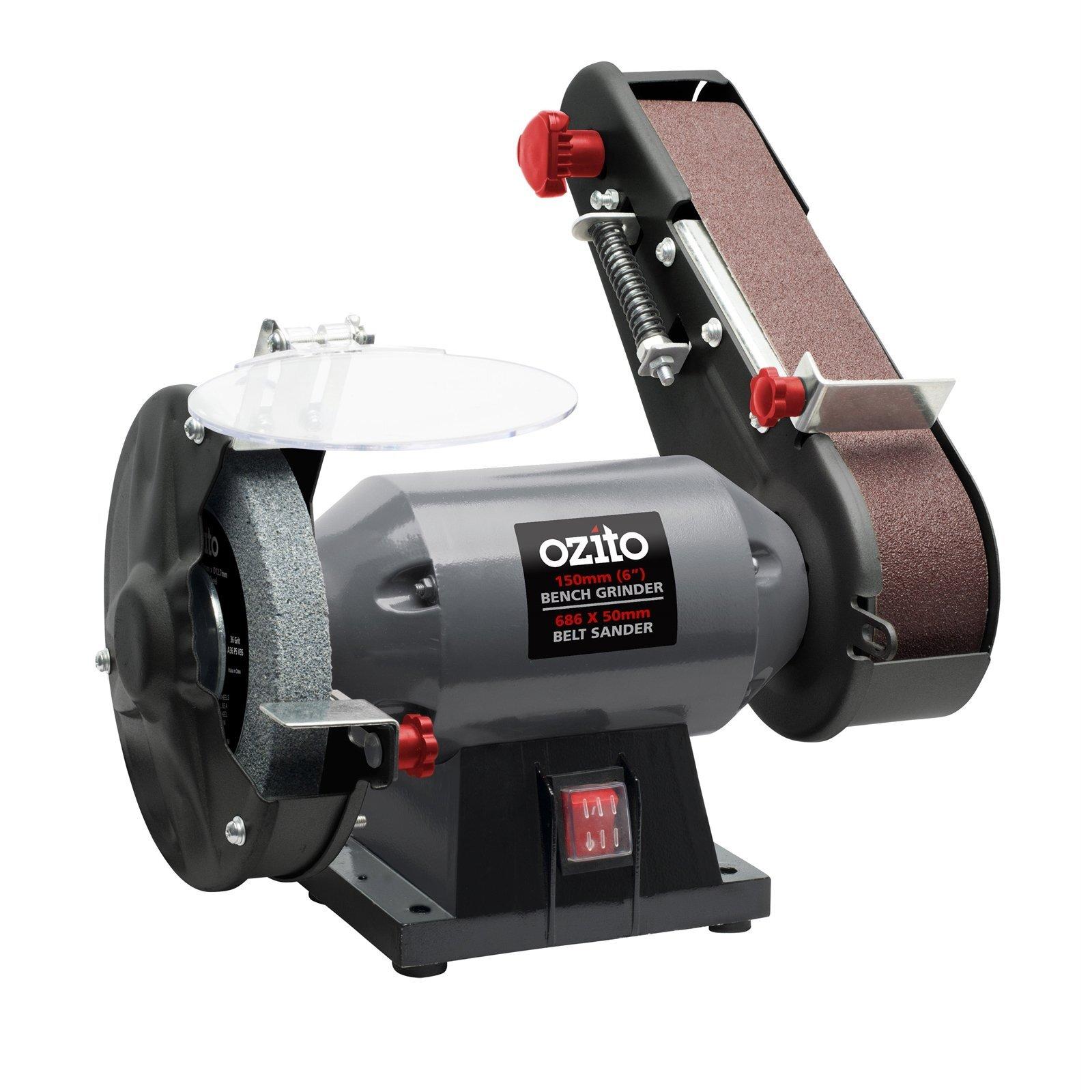 Ozito 240W Bench Grinder And Belt Sander