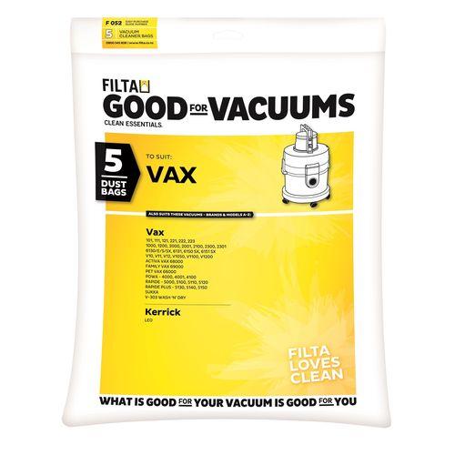 Filta Microfibre Vacuum Cleaner Bag - 5 Pack To Suit Vax