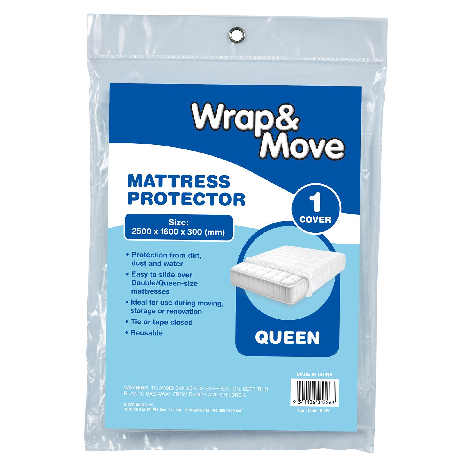 Wrap & Move Double/Queen Mattress Protector Cover