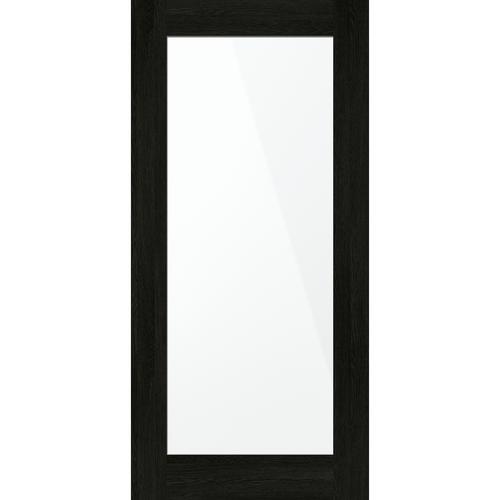 inBuilt 25mm 2100 x 1000mm Black Bordeaux Shaker Double-Sided Mirror Barn Door