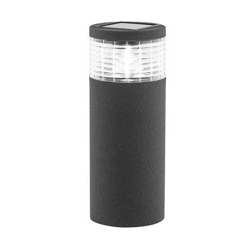 Arlec Grey Render Finish Sandor Solar Bollard Light