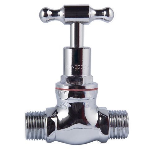 Kinetic 15mm Chrome Plated T Head Stop Cock - M/M