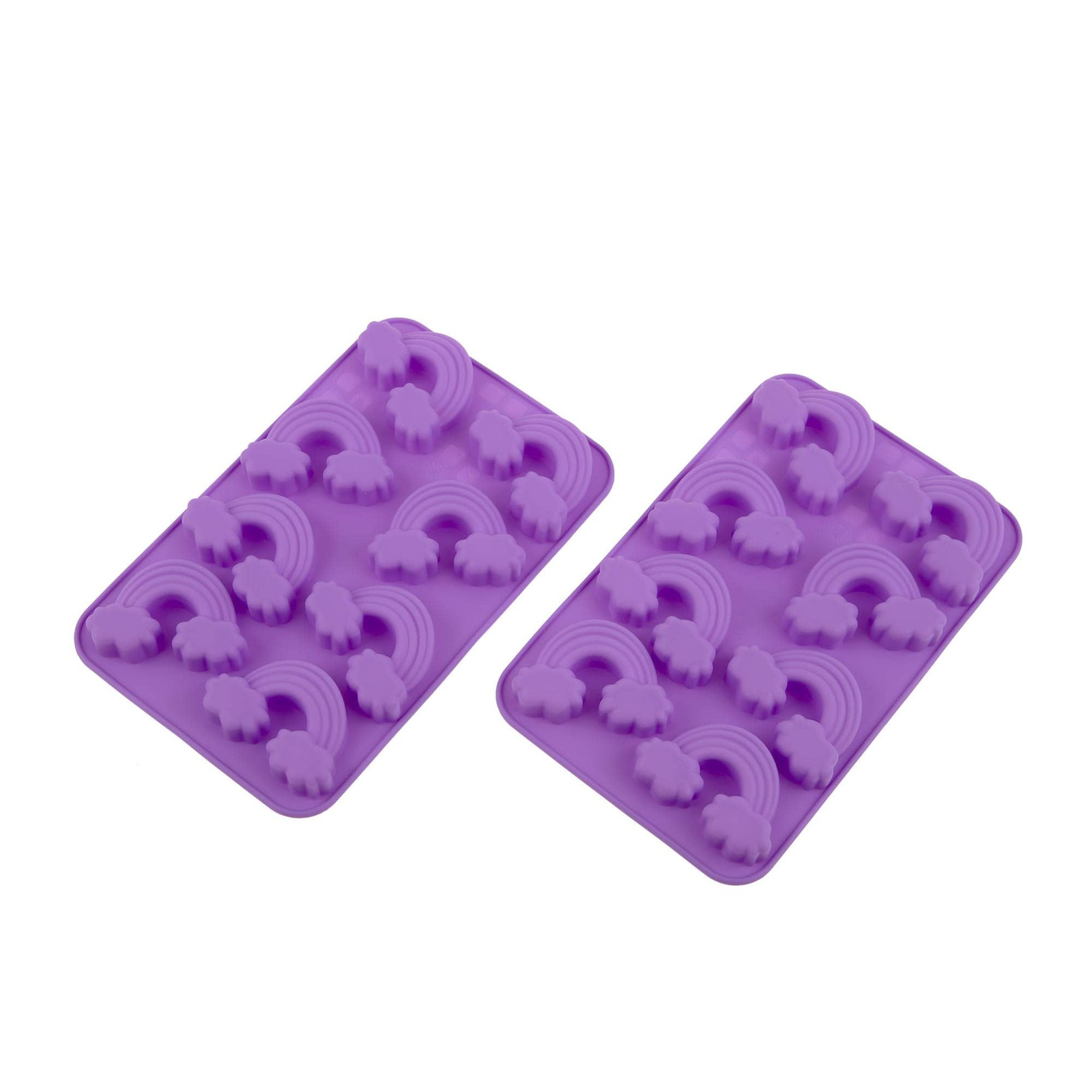 Daily Bake 2pc Rainbow Chocolate Mould Set 8 Cup Purple