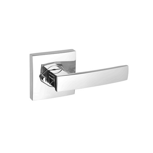 Gainsborough G2 Series Angular Bright Chrome Privacy Leverset With Square Backplates