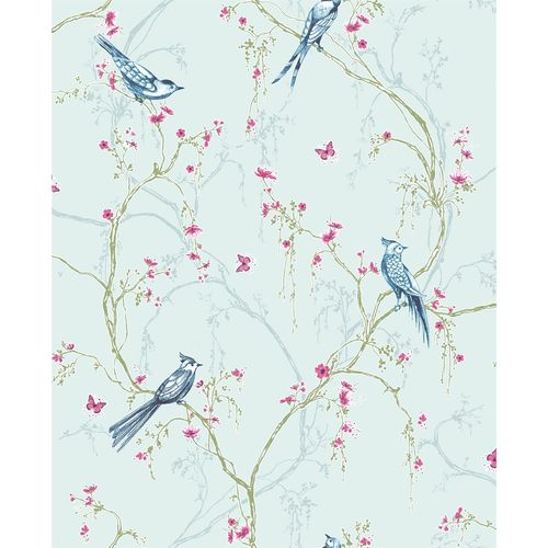 Superfresco Easy 52cm x 10m Duck Egg Blue Songbird Wallpaper