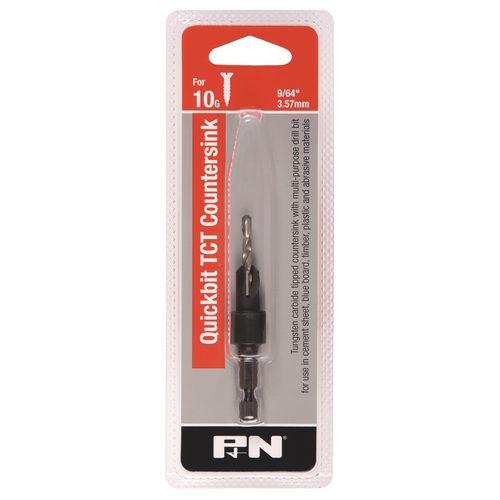 P&N 10G Quickbit TCT Countersink With Multipurpose Drill Bit
