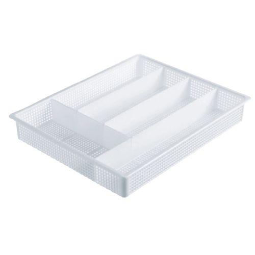 Icon Plastics 5 Compartment White Cutlery Tray