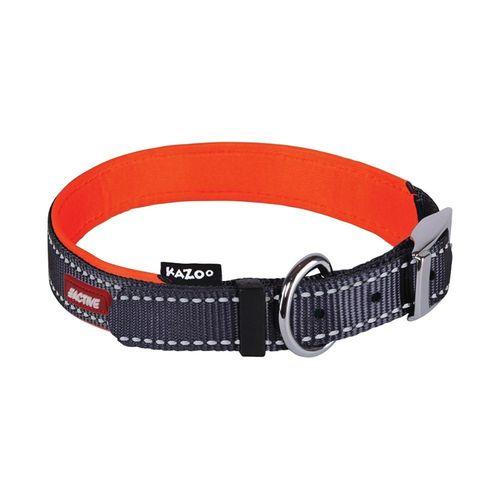 Kazoo Active Nylon Dog Collar Slate & Orange Ex Large