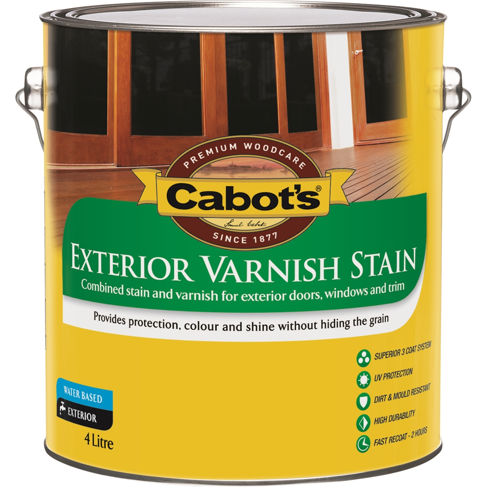 Cabot's 4L Tint Base Water Based External Varnish Stain