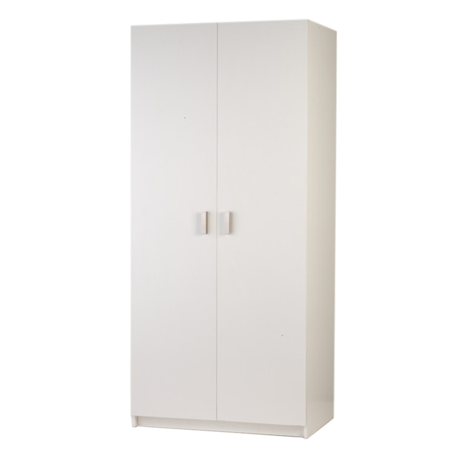 Bedford 900mm White 2 Door Wardrobe