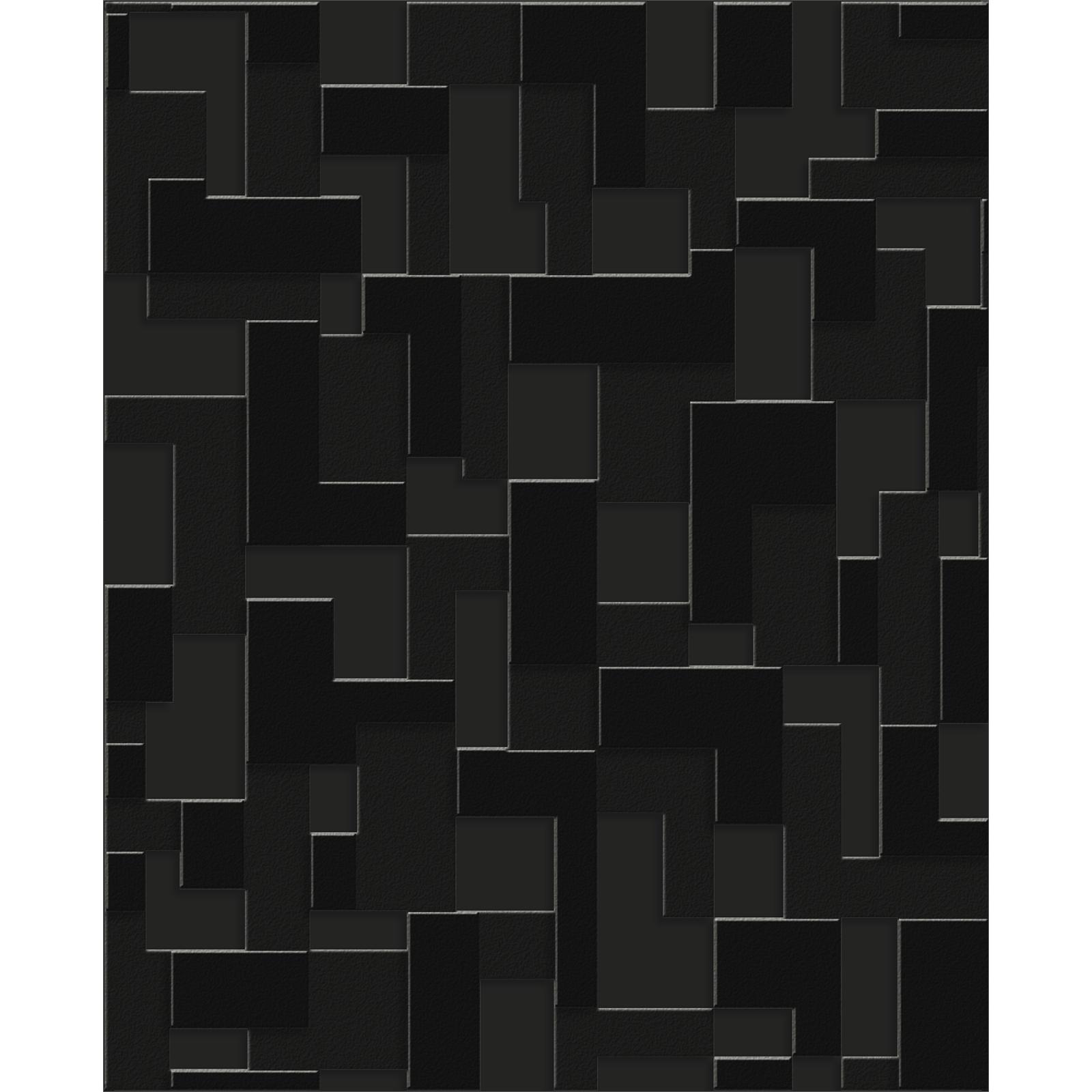 Superfresco Easy Black Checker Wallpaper - Black Checker 52cm x 10m