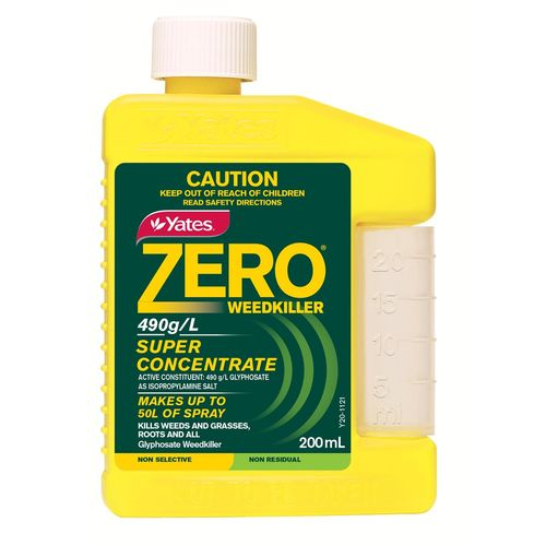 Yates 200ml 490g/L Zero Weed Killer Super Concentrate