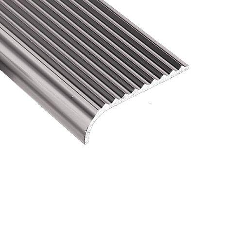 Roberts 45mm x 1m Silver Bullnose Stairnosing Trim