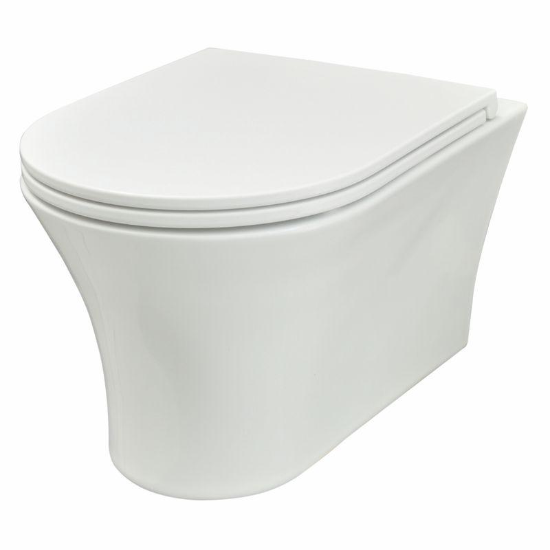 Signature White Rimless Hung Pan