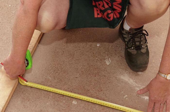 DIY Step Image - How to install tile underlay . Blob storage upload.