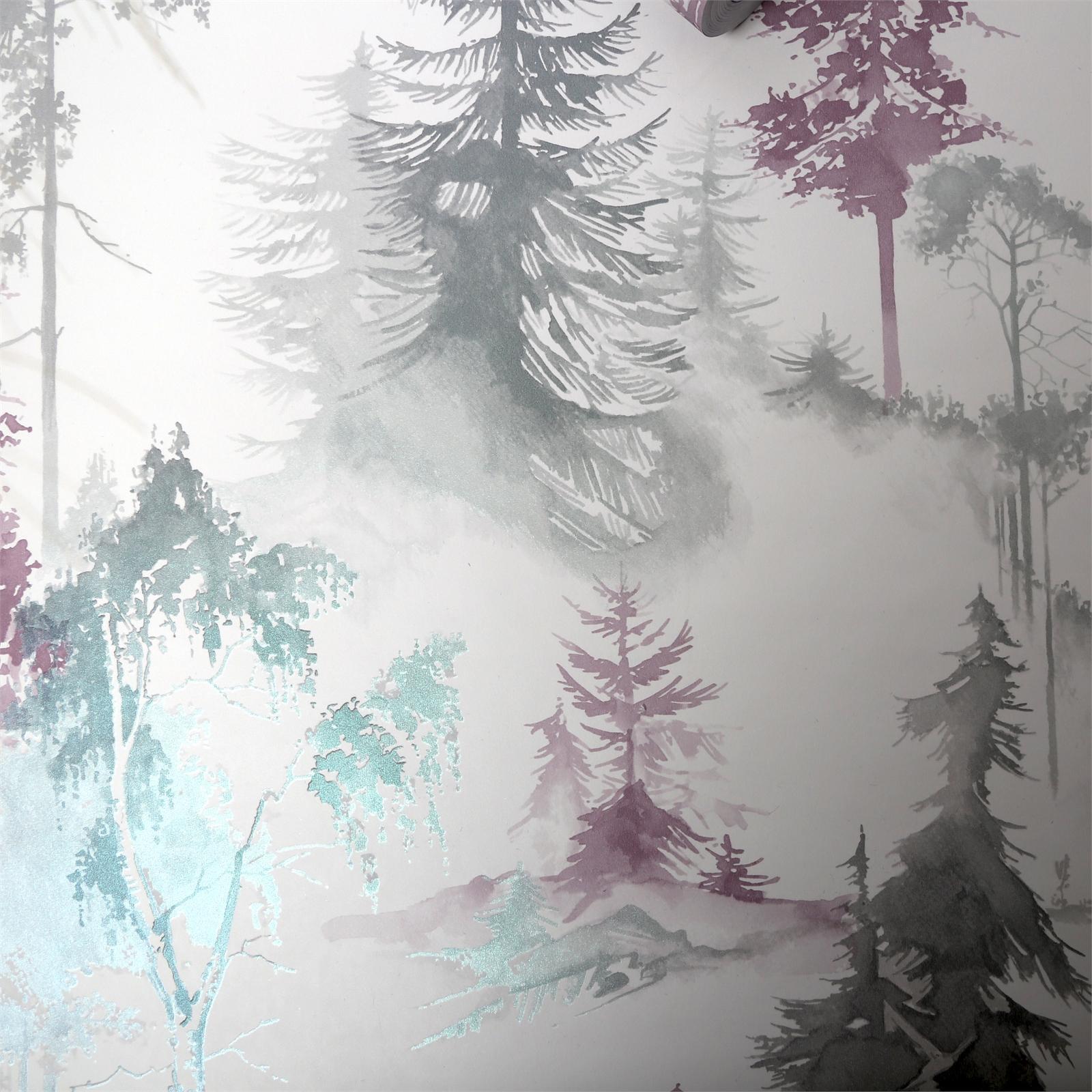 Superfresco Easy 52cm x 10m Mystical Forest  Lilac Wallpaper
